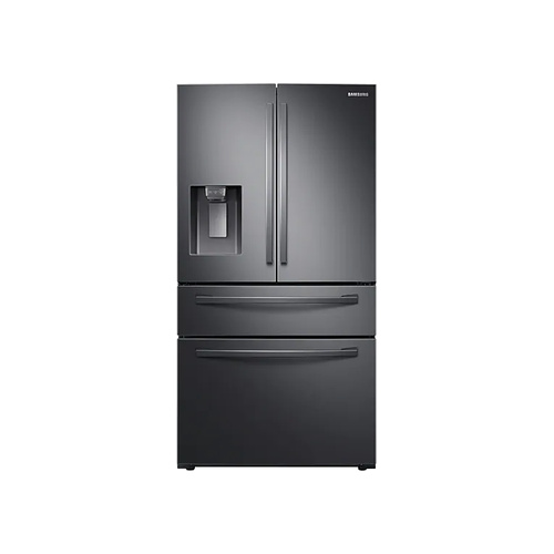 SAMSUNG 510L Nett Frost Free French Door Fridge With Water & Ice Dispenser - Black Stainless