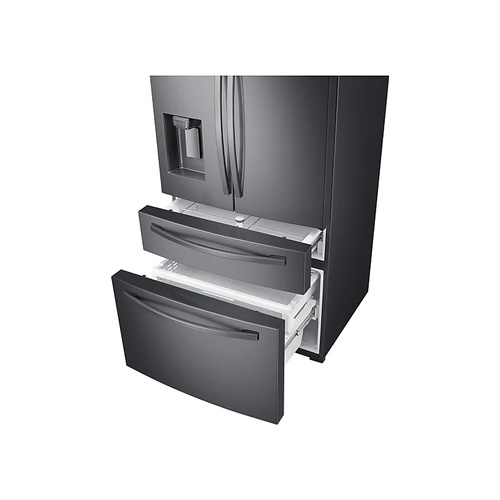 SAMSUNG 510L Nett Frost Free French Door Fridge With Water & Ice Dispenser - Black Stainless (Photo: 3)