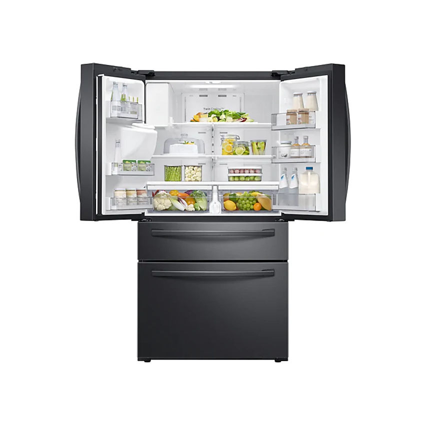 SAMSUNG 510L Nett Frost Free French Door Fridge With Water & Ice Dispenser - Black Stainless (Photo: 4)