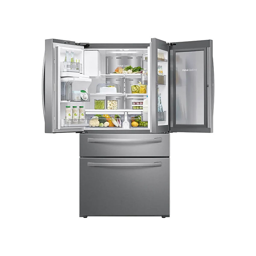 SAMSUNG 600l Nett Frost Free French Door Fridge With Auto Water And Ice Dispenser  - Real Stainless (Photo: 3)