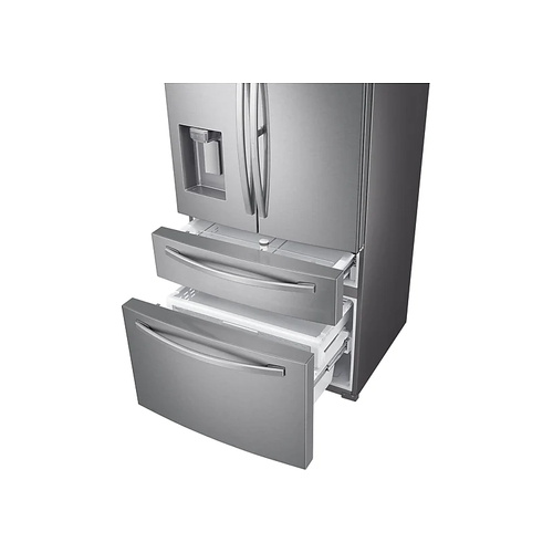 SAMSUNG 600l Nett Frost Free French Door Fridge With Auto Water And Ice Dispenser  - Real Stainless (Photo: 4)