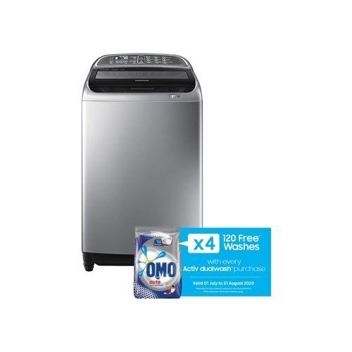 Samsung 15kg Top Loader Washing Machine Silver - WA15J5730SS