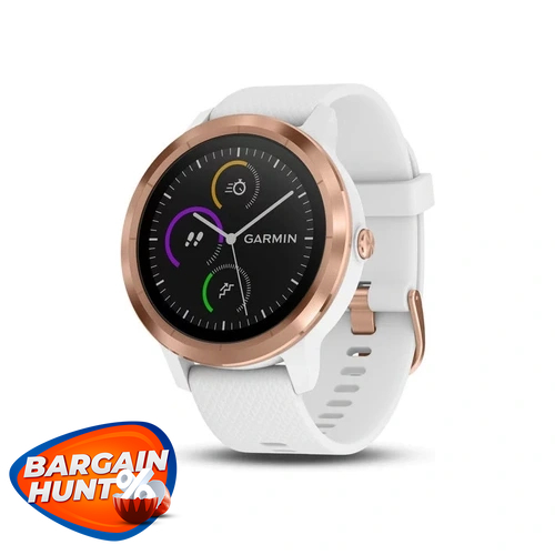 Garmin Vivoactive 3 GPS Smartwatch Rose Gold White