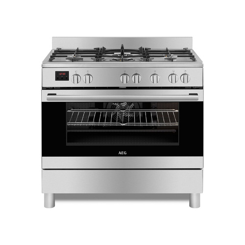 AEG 90cm Gas Electric Cooker Stainless Steel - 10369MN