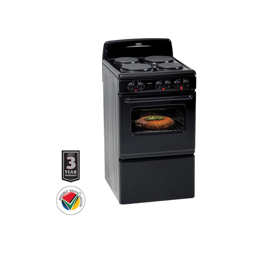 Defy 49L 4 Plate Stove Compact - Black