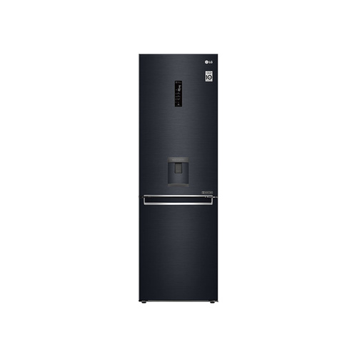 LG 373L Matte Black Bottom Freezer Top Fridge