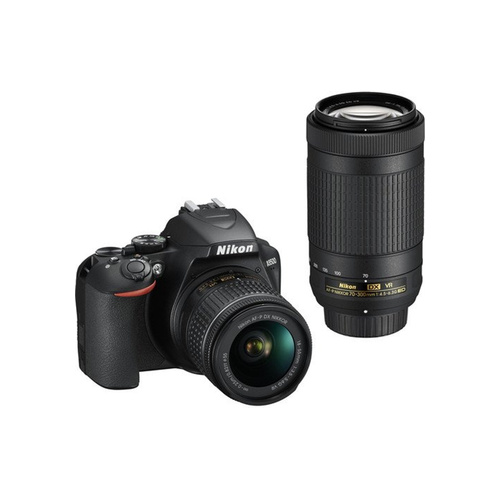 Nikon D3500 DSLR Camera + 18-55mm G VR + 70-300mm G ED Lens