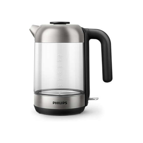 Philips Series 5000 1.7L Glass Kettle - Stainless Steel/Glass