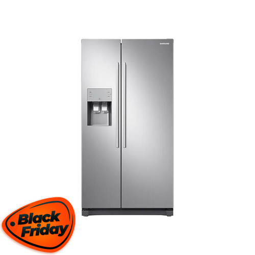 Samsung 501L Side by Side Fridge Silver - RS50N3C13S8