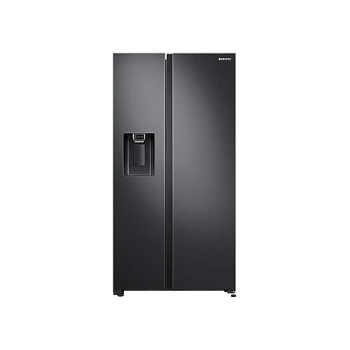 Samsung 617L Side by Side Fridge With Non-Plumbed Water & Ice Dispenser - Gentle Black