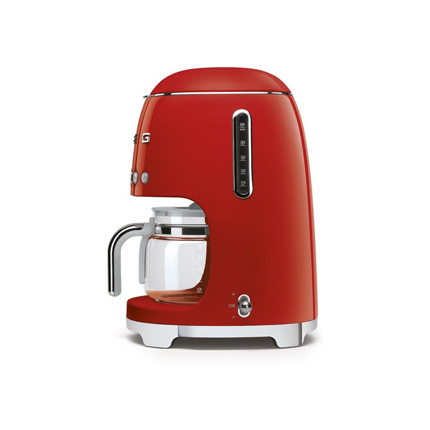 Smeg 50's Style Retro Drip Filter Coffee Machine - Glossy Red (Photo: 3)
