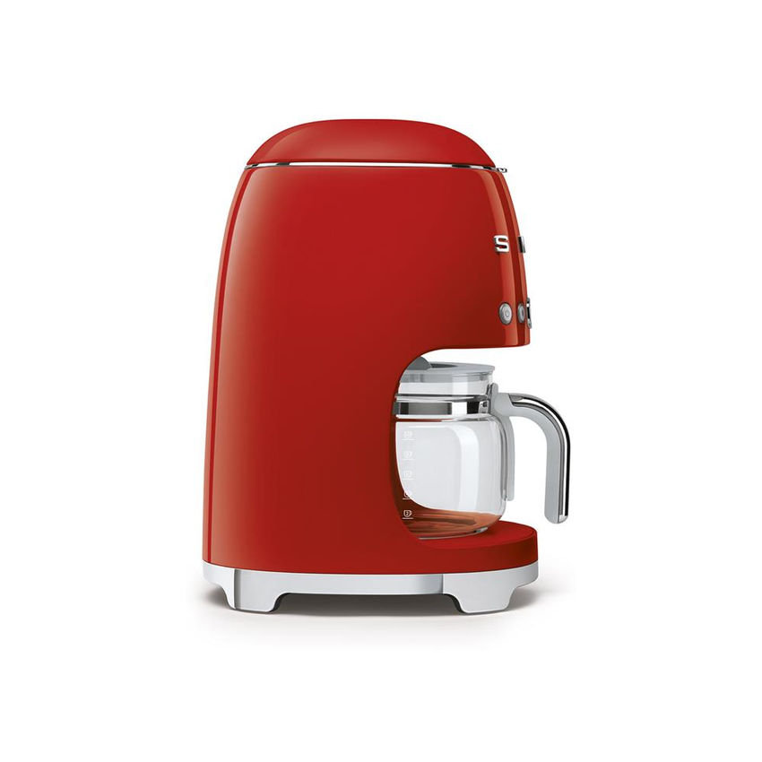 Smeg 50's Style Retro Drip Filter Coffee Machine - Glossy Red (Photo: 4)