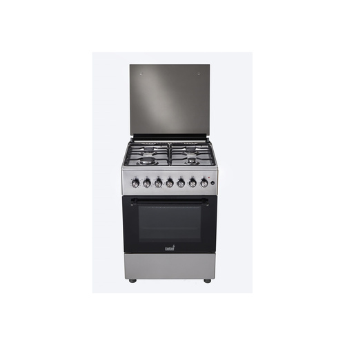 Totai 4 Gas Burner With Gas Oven - Stainless Steel