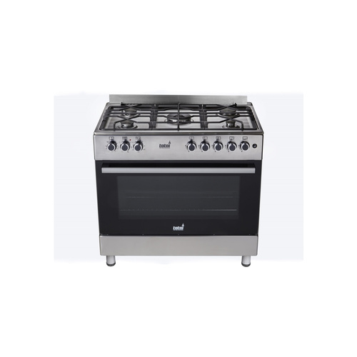 Totai 5 Gas Burner with Electric Oven - Stainless Steel