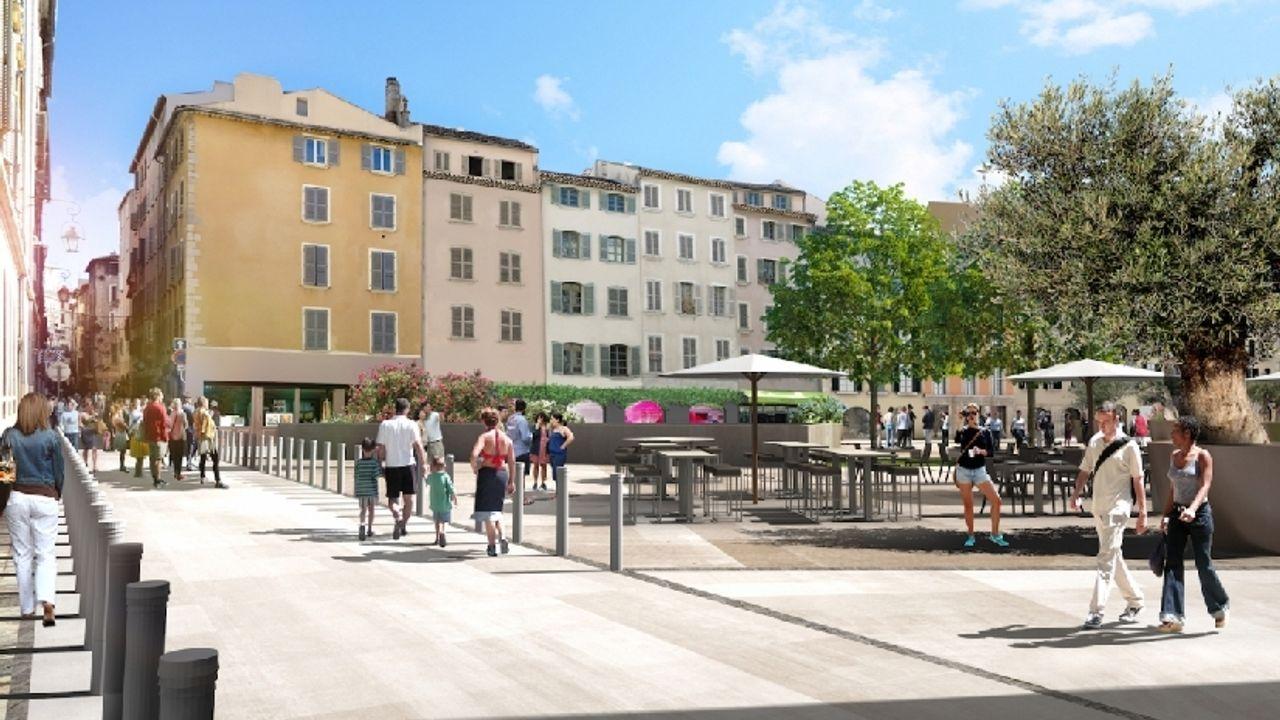 Photo du projet Renouvellement urbain du centre-ville de Toulon (83) - Dalle de l'Equerre