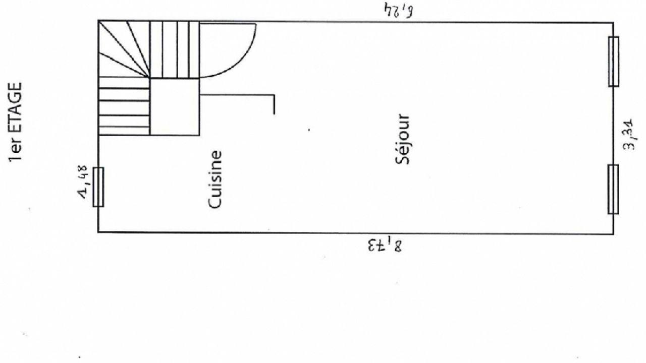 Photo du projet A vendre : appartement réhabilité en duplex de 47,50 m²