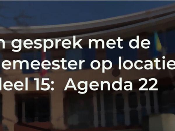 Gesprek met de burgemeester over agenda 22