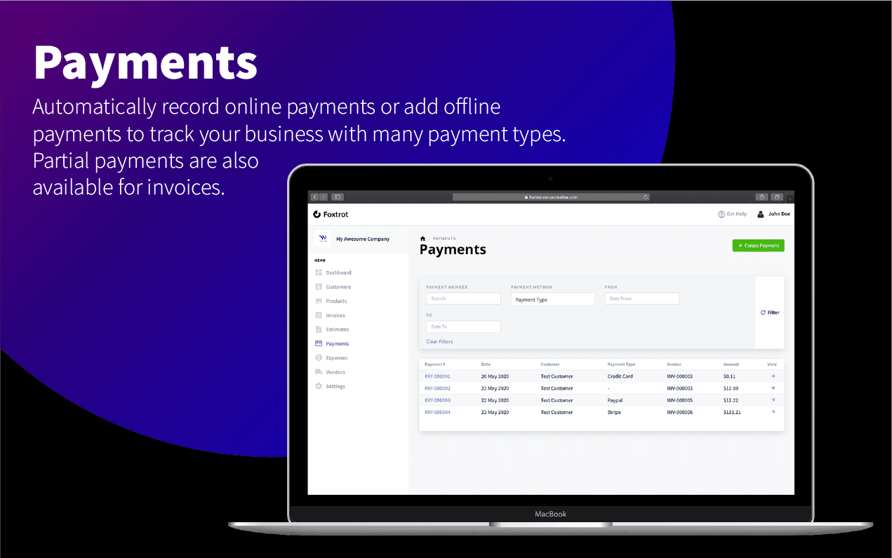 Foxtrot - Customer, Invoice and Expense Management System - 10