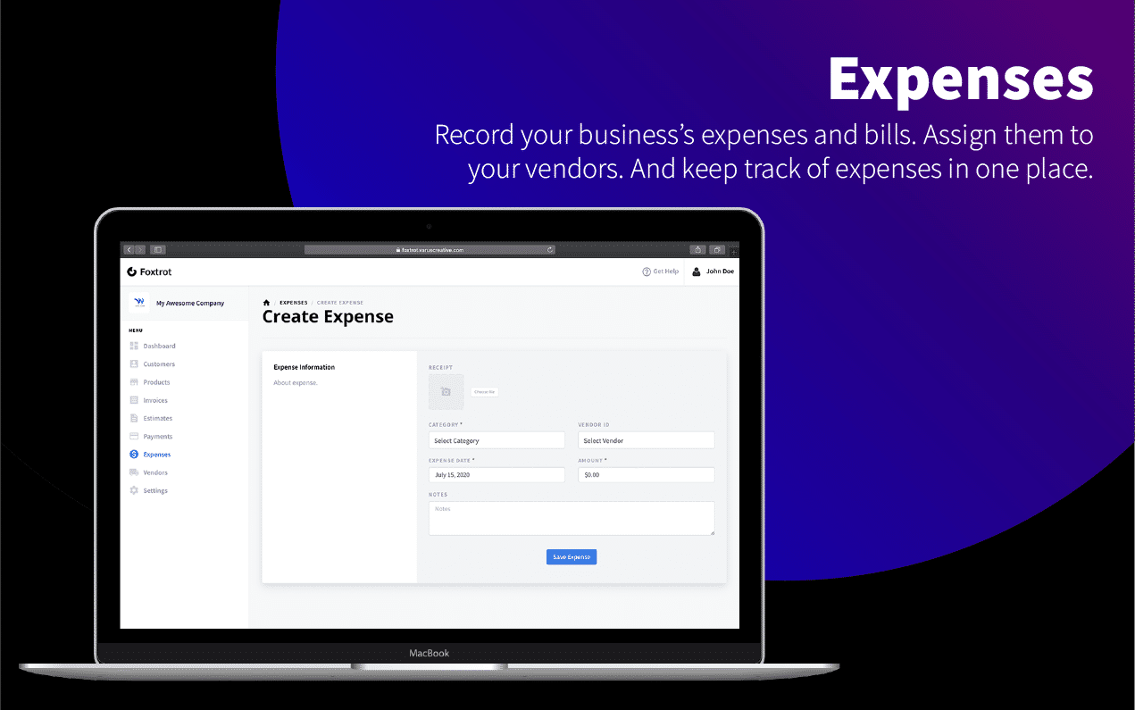 Foxtrot - Customer, Invoice and Expense Management System - 11
