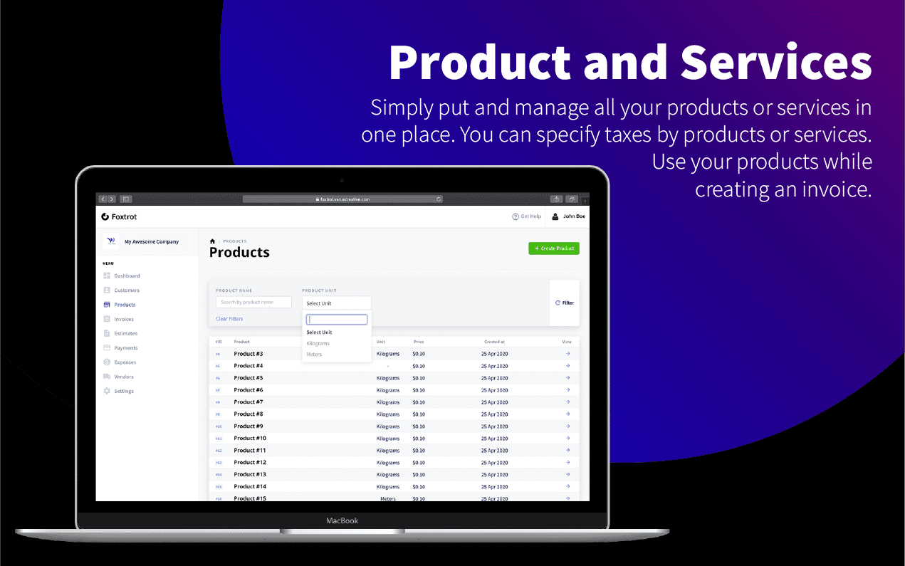 Foxtrot - Customer, Invoice and Expense Management System - 7