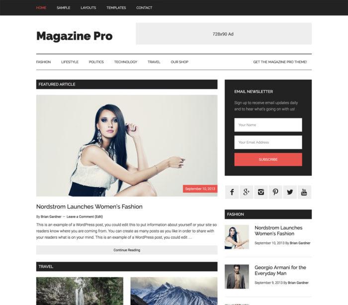 Magazine pro studio press adsense optimized wordpress theme