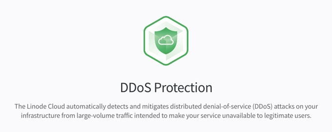 DDoS protection in Linode Infrastructure