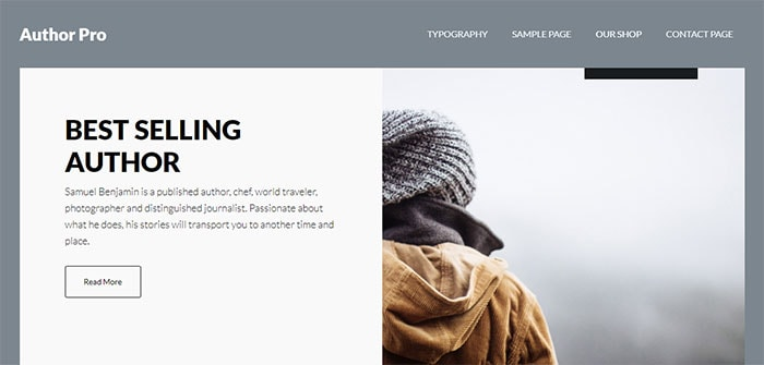 Author Pro wordpress theme for genesis framework