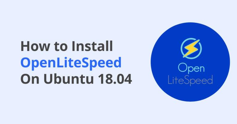 how to install openlitespeed