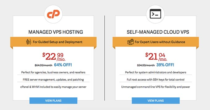 inmotion vps hosting package