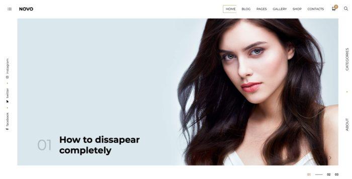 Novo white optimized theme for seo purpose