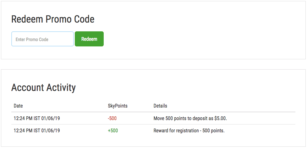 redeem reward points