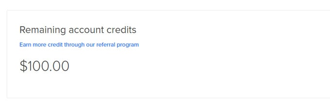 Digitalocean review - Coupon code applied