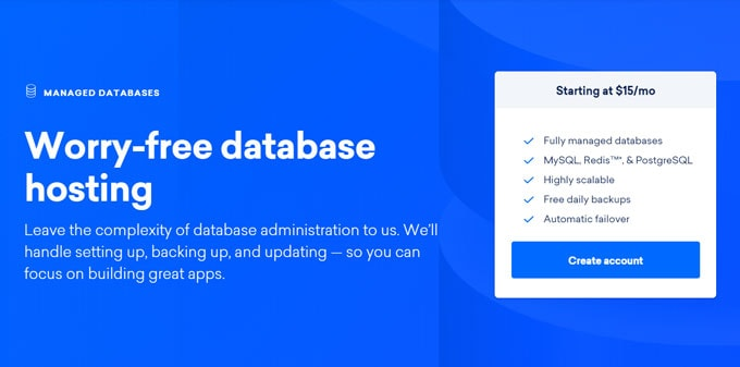 Worry free database hosting on DigitalOcean