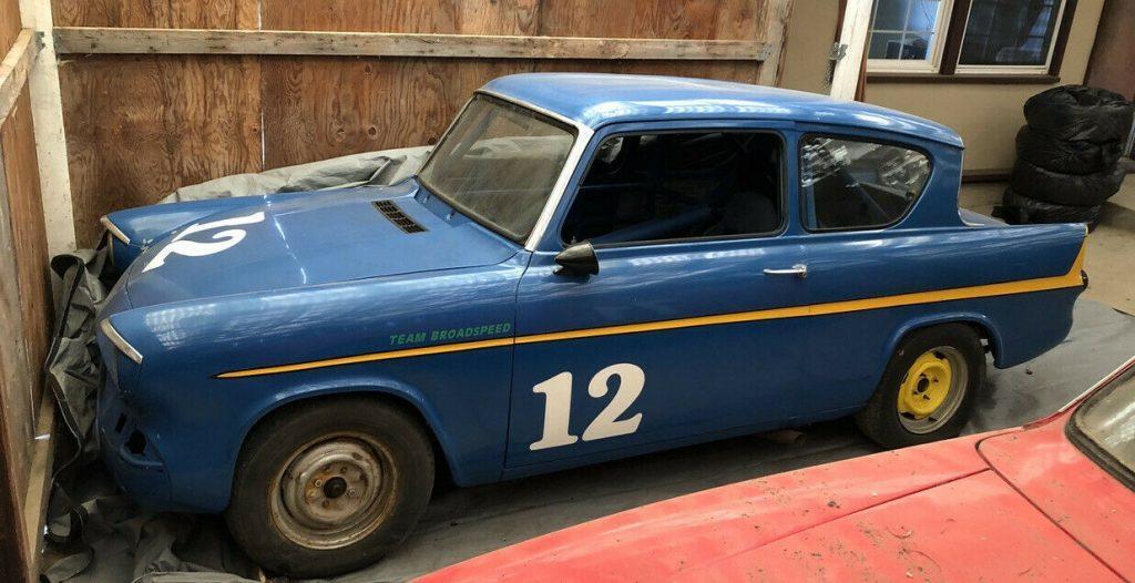 Ford Anglia 105E race car