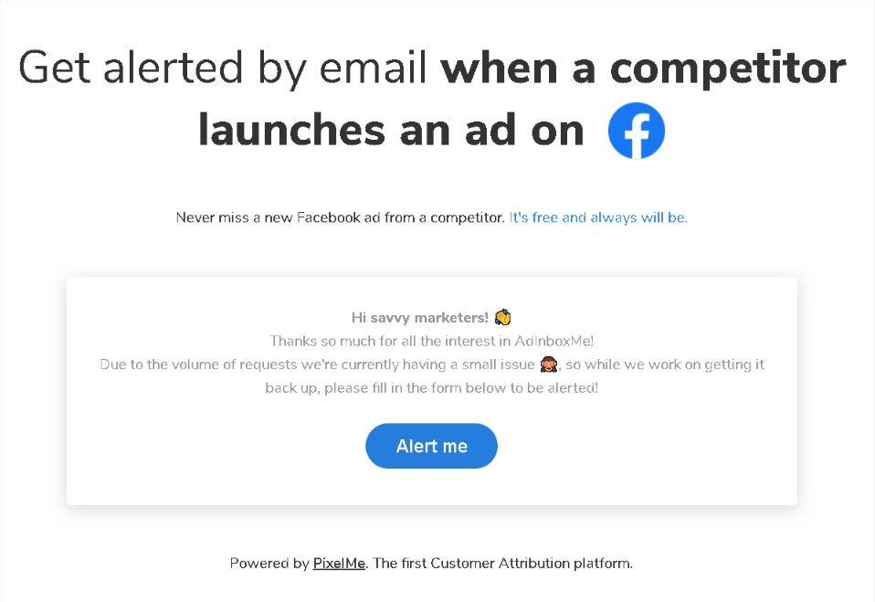 Get Email Alerts When a Competitor Launches a Facebook Ad 1