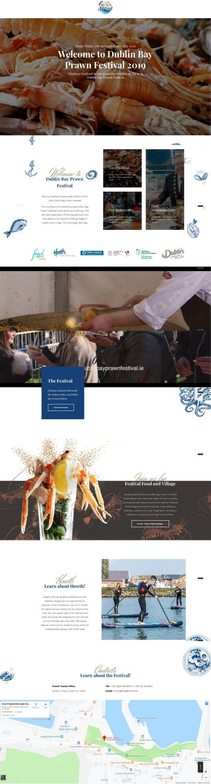 Seafood Festival Website Design 1