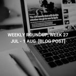 Weekly Roundup, Week 13-19 July 2019 4