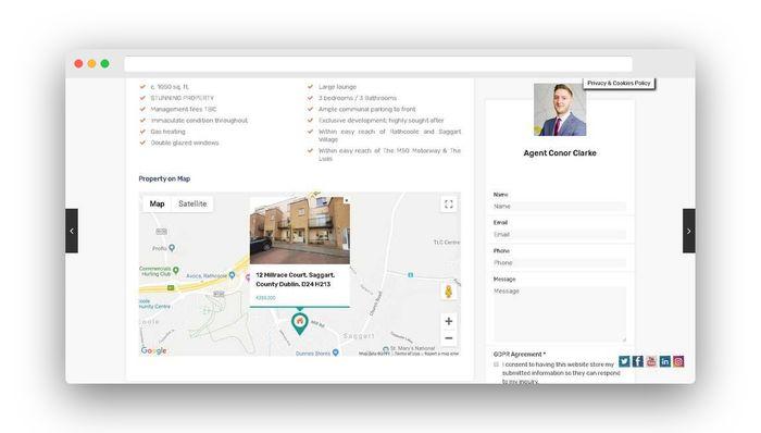 real estate website design google maps