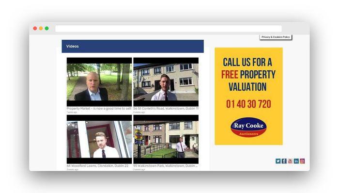 real estate website design youtube channel