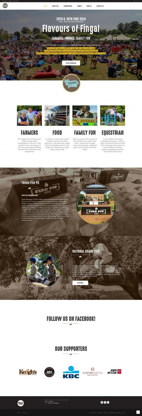 County Show Website Design