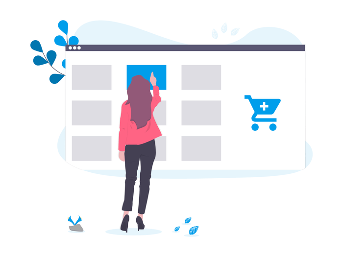 Pay Per Click Agency - woman choosing products from a screen