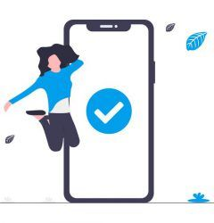 Trading Online Voucher - girl jumping next to phone