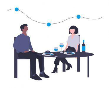 Coronavirus and Reopening - couple dining