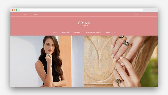 ecommerce website design jewelry home