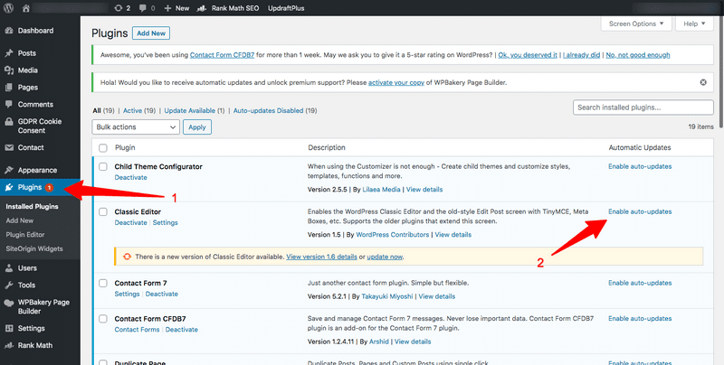 how to update wordpress plugins in automation