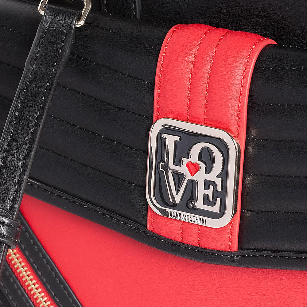 b95ebf44a4 Bauletto bicolore nero e rossa - LOVE MOSCHINO ACCESSORI - Acquista su  Ventis.