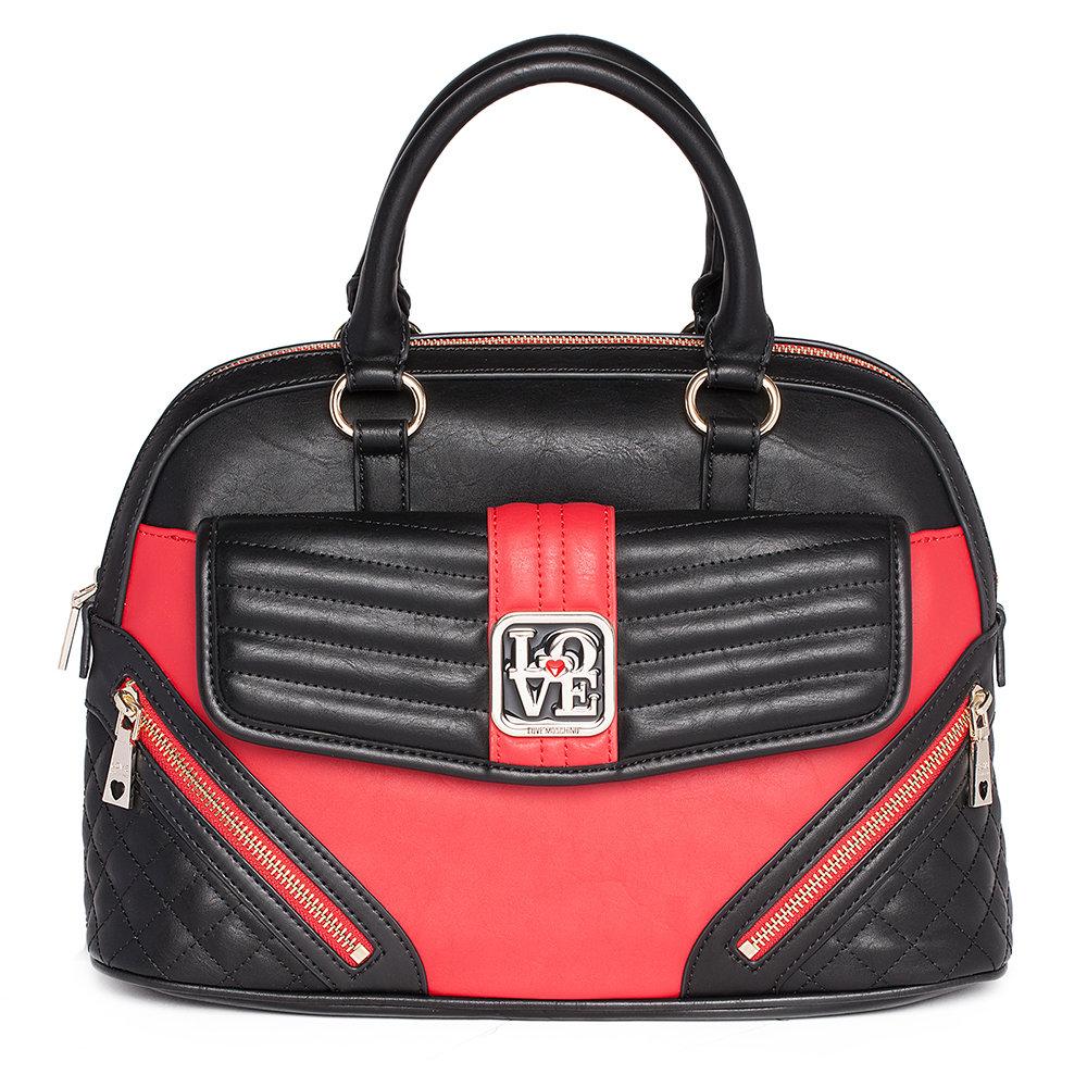 441a8108a2 Bauletto bicolore nero e rossa - LOVE MOSCHINO ACCESSORI - Acquista ...