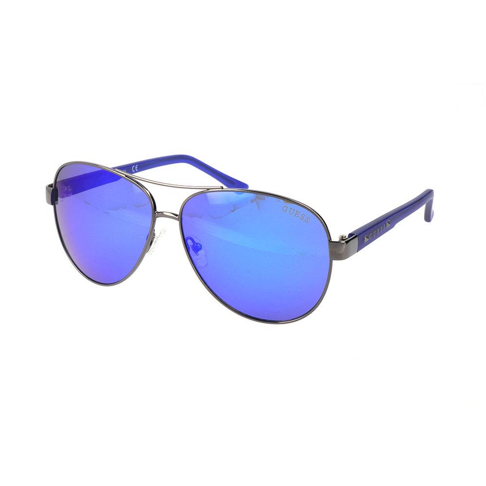 Occhiali da sole guess con montatura sottile blu guess for Occhiali da sole montatura in legno