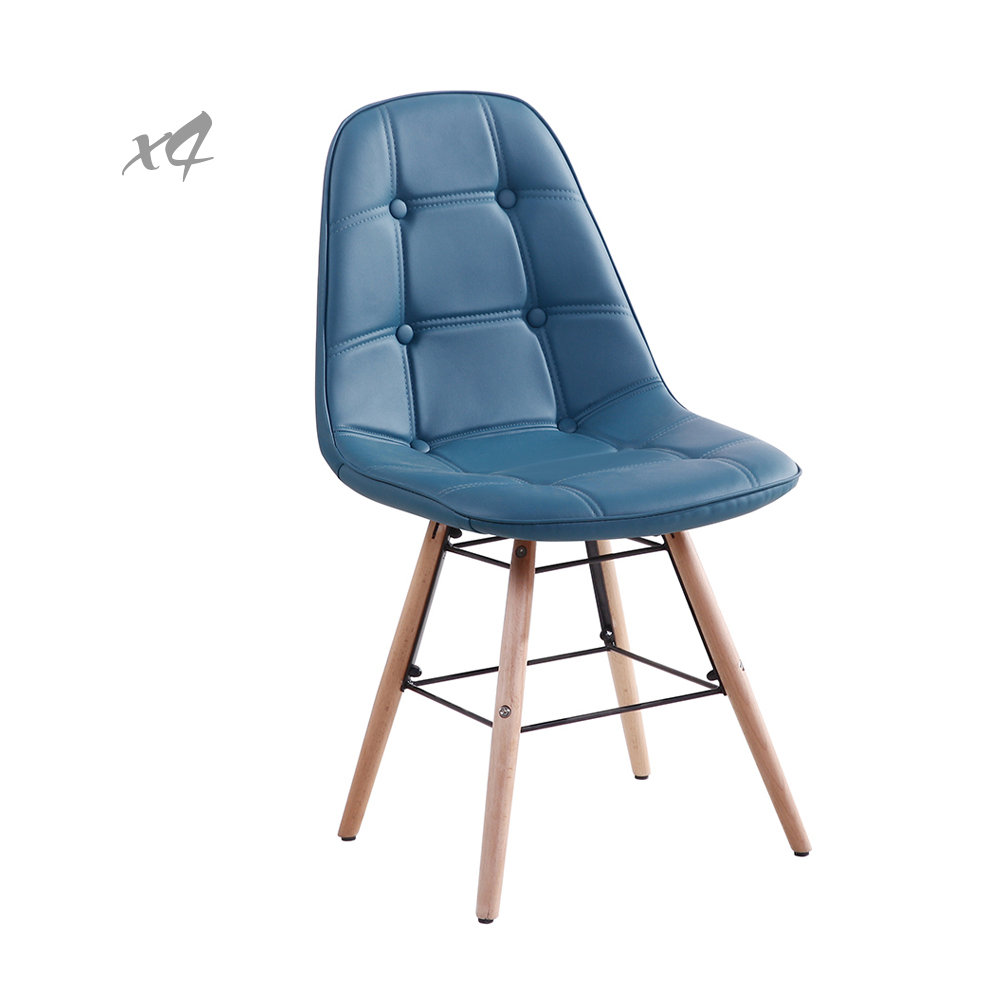 Set 4 sedie patty 3 in similpelle verde petrolio cribel for Sedie in similpelle