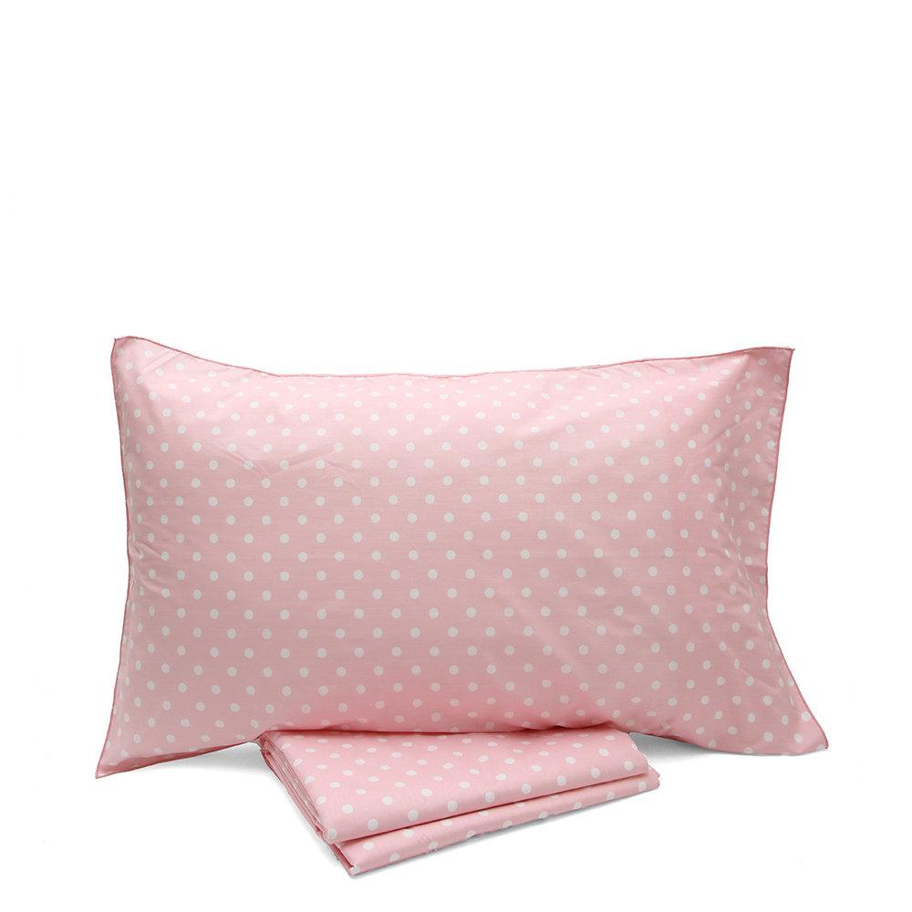 quite nice 70719 e41e9 Parure copripiumino singolo bifaccia pois bianchi su fondo rosa - Caldo  abbraccio - Acquista su Ventis.